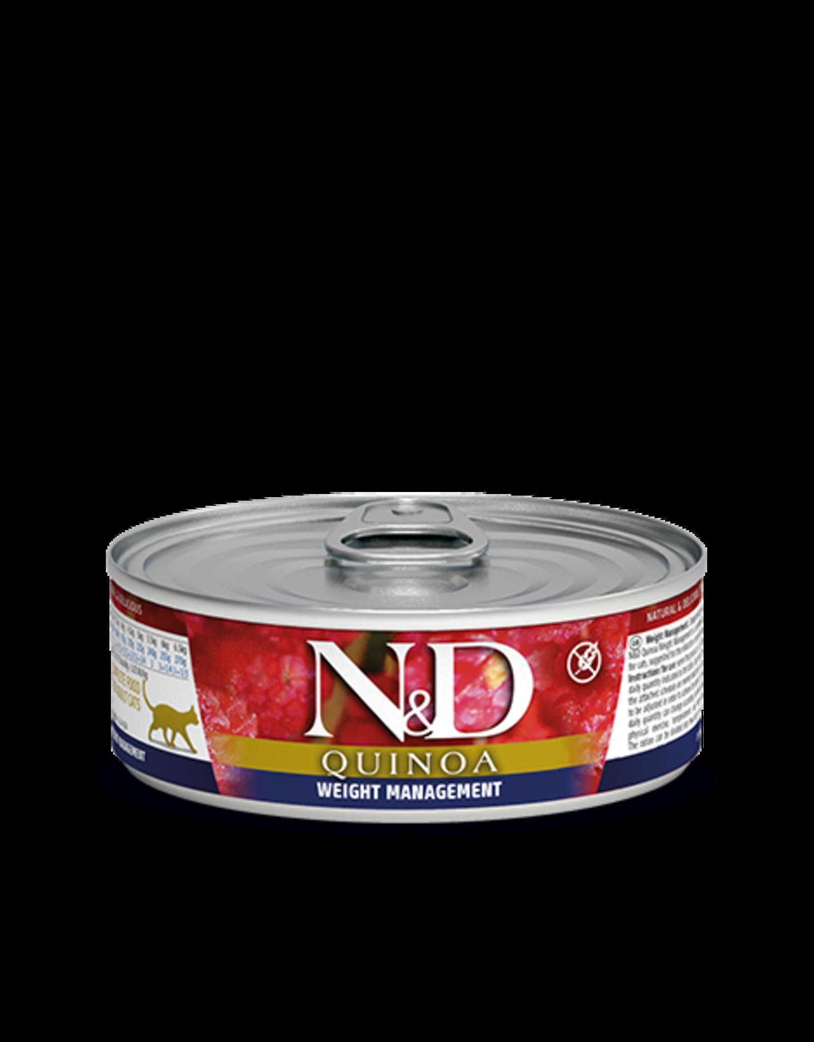 Farmina N&D Quinoa Cat - Weight Management Lamb 80g