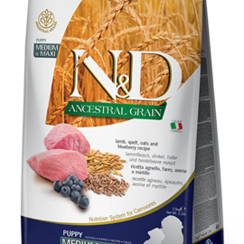 Farmina N&D Dog - Ancestral Grain Puppy Lamb Med/Max 5.5lb