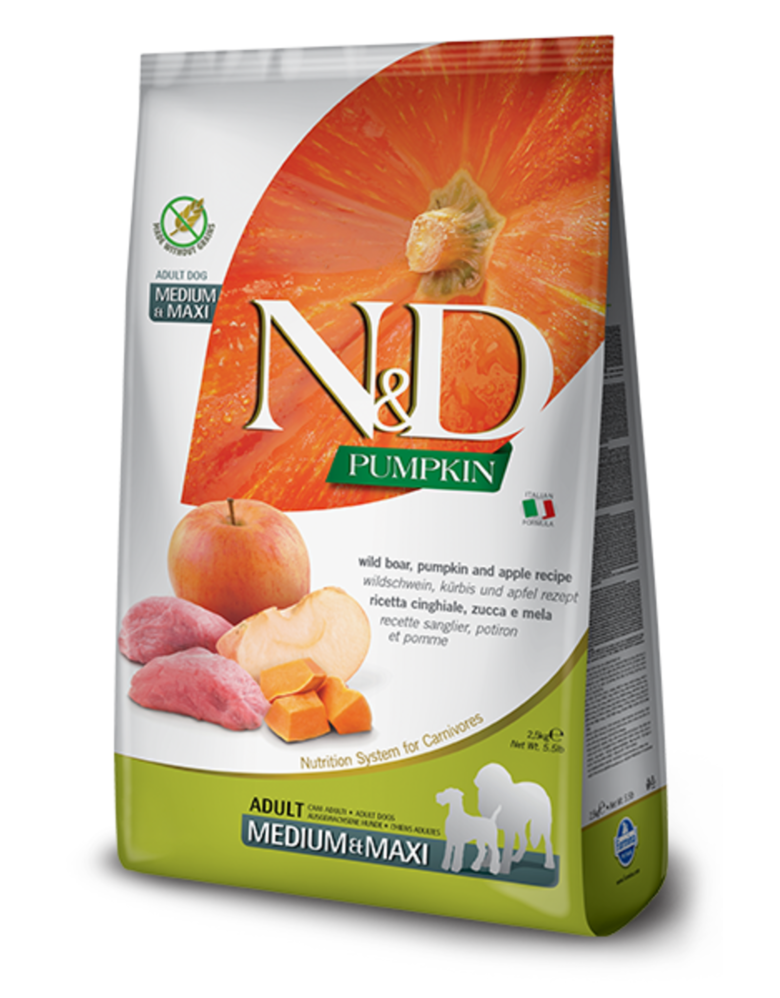Farmina N&D Dog - Pumpkin & Boar Adult Med/Max 5.5lb