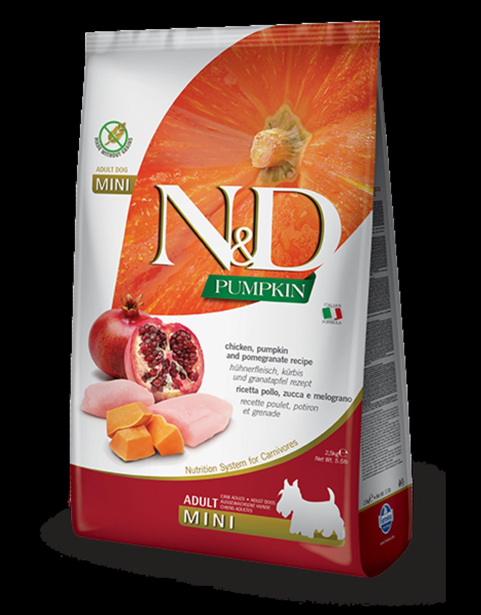 Farmina N&D Dog - Pumpkin & Chicken Adult Mini 5.5lb