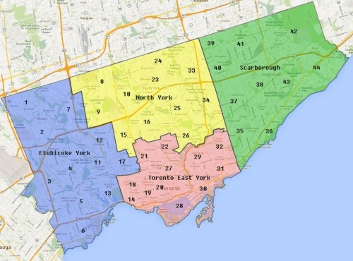 Toronto Delivery Map