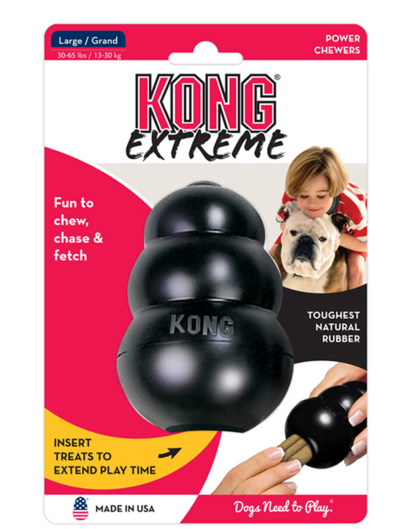 KONG EXTREME LARGE BLACK
