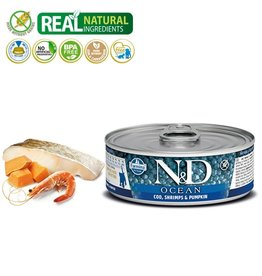 Farmina N&D Kitten Ocean Cod, Shrimp, & Pumpkin 2.8oz