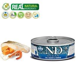 FARMINA PET FOOD USA LLC N&D Ocean Cod/Shrimp/Pumkin Kitten 12/2.8Z