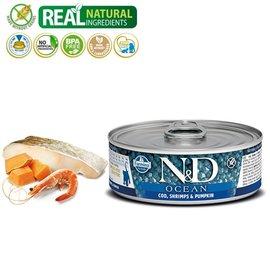 Farmina N&D Kitten Ocean Cod, Shrimp, & Pumpkin 2.8oz