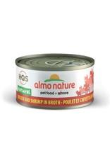 almo Almo Nature HQS Natural Chicken with Shrimp in Broth Cat Can 70g (24cs)