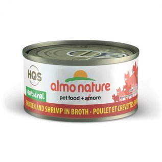almo Almo Cat Nature HQS Natural Chicken with Shrimp in Broth Can 70g