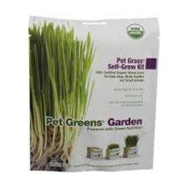 Pet Greens Self Grow Garden Organic Wheatgrass Seeds 23g Soil 65g