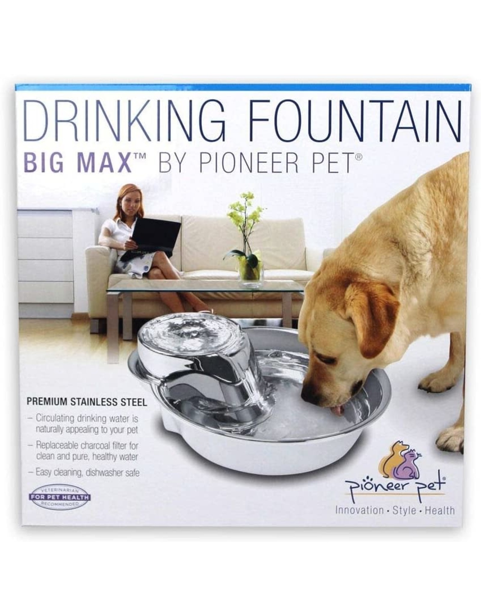 Pioneer Pet Big Max Fountain Stainless Steel
