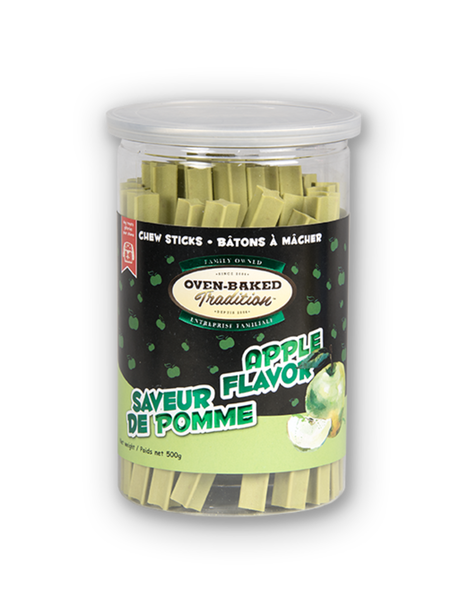 Oven Baked Oven Baked - Apple Flavour Chew Sticks 500g