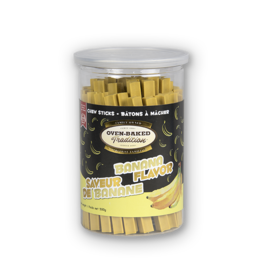 Oven Baked Oven Baked - Banana Flavour Chew Sticks 500g