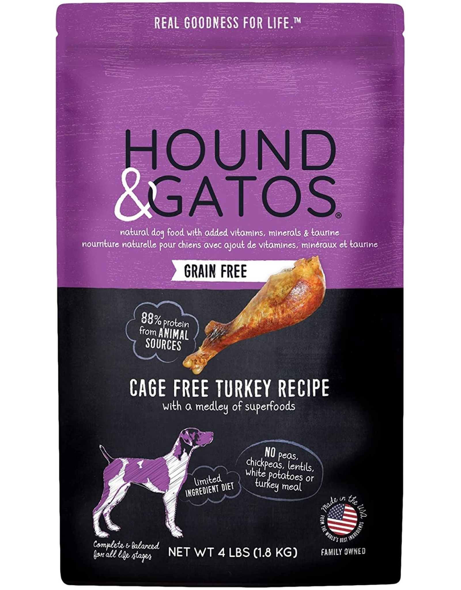 Hound & Gatos Hound & Gatos Dog - Turkey 4lb