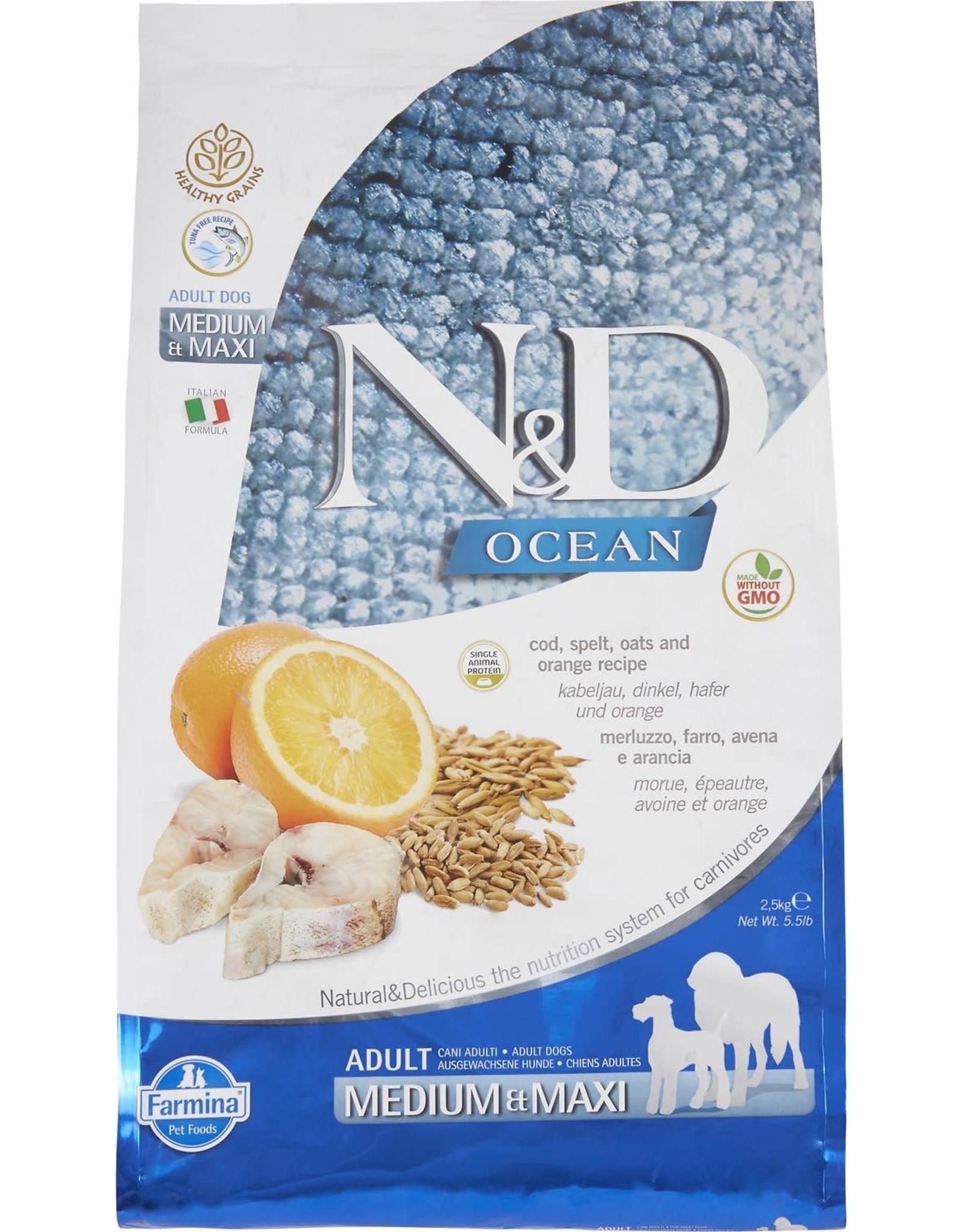 Farmina N&D Dog - Ocean Cod Adult Med/Max 26.5lb