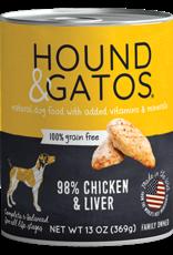 Hound & Gatos Hound & Gatos Dog - Chicken & Liver 13oz