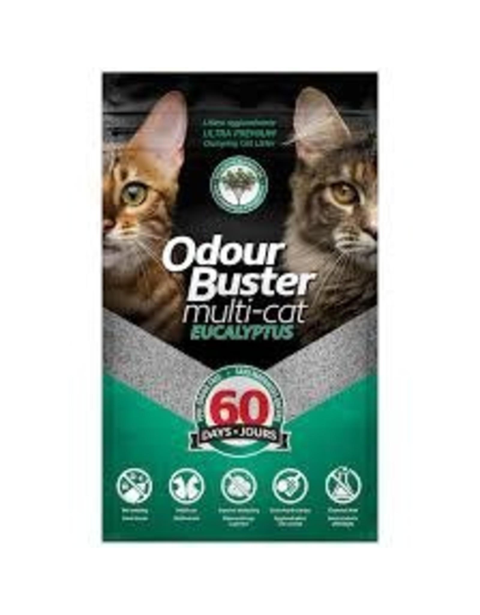 Odour Buster Odour Buster Multi-Cat Eucalyptus Clumping Litter 12KG