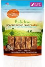 Canine Naturals Hide Free Peanut Butter Recipe Rolls 120g 6pk
