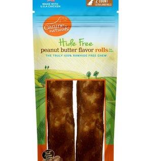 Canine Naturals Hide Free Peanut Butter Recipe Rolls 255g 2pk