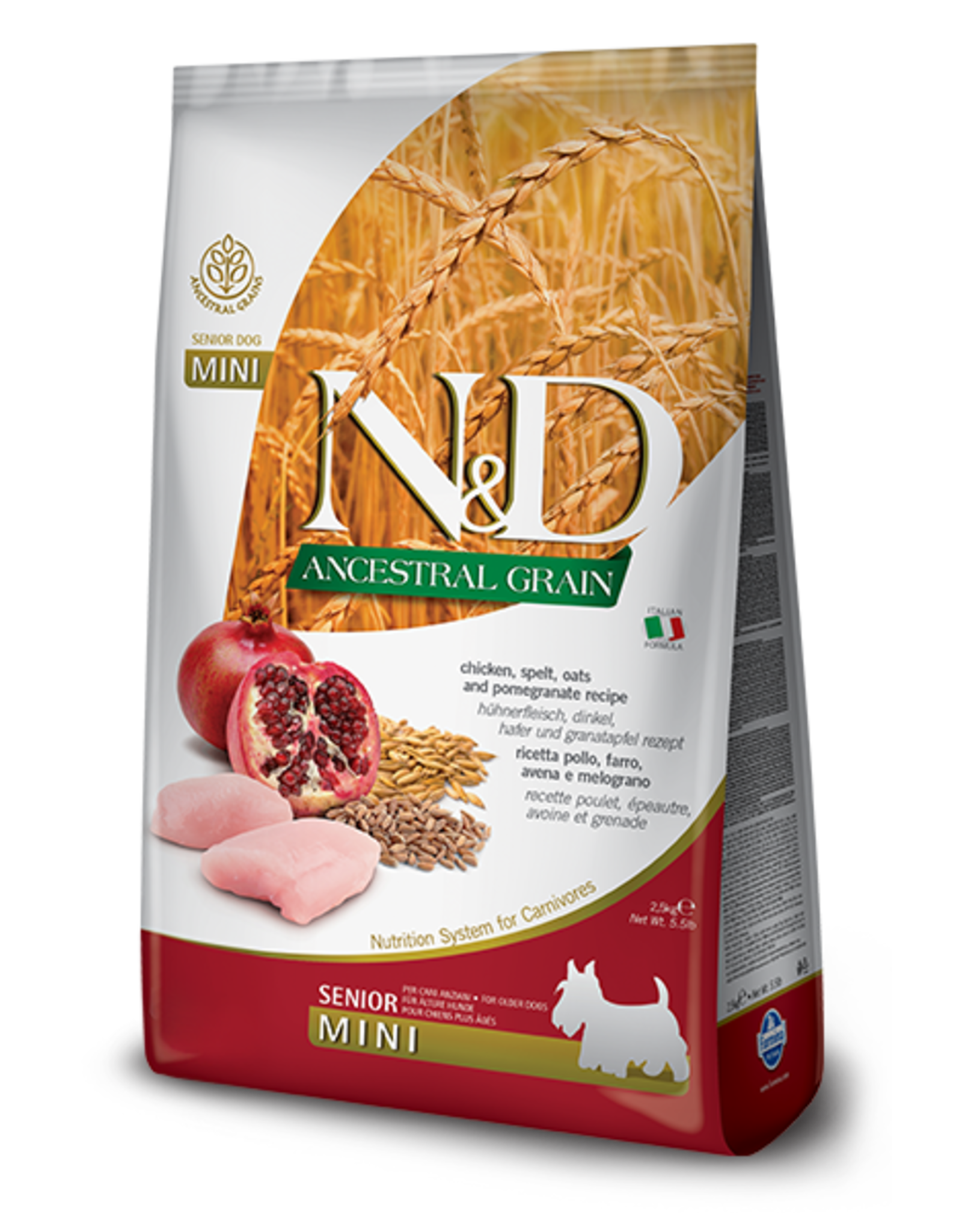 Farmina N&D Dog - Grain Senior Chicken Mini 5.5lb