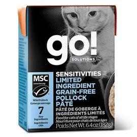PETCUREAN Go! Cat - Sensitive Grain-Free Pollock Pate - 6.4oz