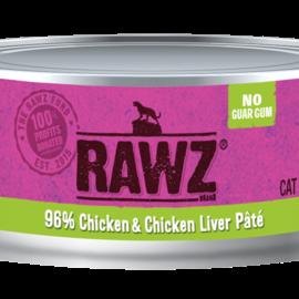 RAWZ Cat Wet - 96% Chicken & Chick Liver 5.5oz