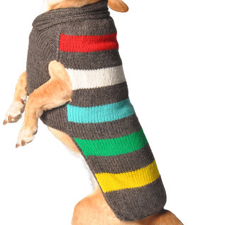 Chilly Dog Chilly Dog Sweater Charcoal Stripe XXS