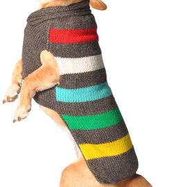 Chilly Dog Chilly Dog Sweater Charcoal Stripe LG