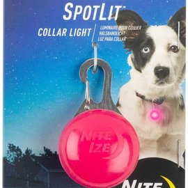 NITE IZE SpotLit Collar Light Pink