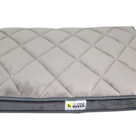 Be One Breed Be One Breed Memory Foam Dark Grey Bed Large 27x49""