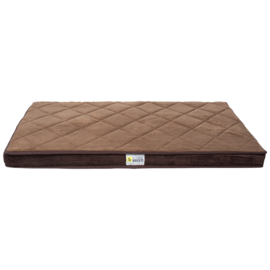Be One Breed Be One Breed Memory Foam Brown Large 28x46""