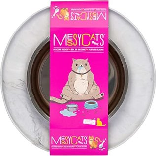 messy cats Messy Cats Silicone Single Bowl Marble