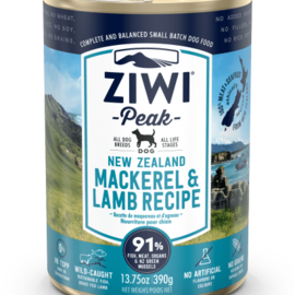 Ziwi Peak ZIWI Mackerel & Lamb Wet Dog Food 390g