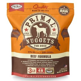 Primal Primal Frozen Raw Nuggets For Dogs Beef 3lbs