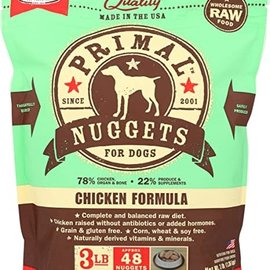 Primal Primal Frozen Raw Nuggets For Dogs Chicken 3lbs