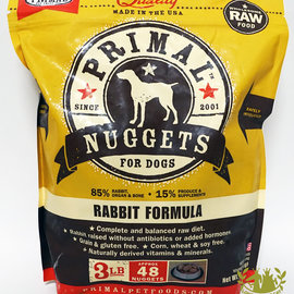 Primal Primal Frozen Raw Nuggets For Dogs Rabbit 3lbs