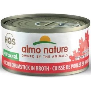 Almo Nature Almo Cat Nature HQS Natural Chicken Drumstick in Broth Can 70g