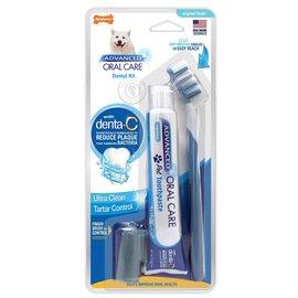 Nylabone Nylabone Advanced Oral Care Dog Dental Kit Natural Peanut Butter Flavour