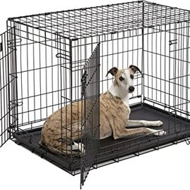 Smart Pet Love Wire Crates Wire Training Crate 2 Door Large  36x22x24.5