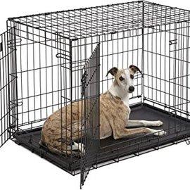Smart Pet Love Wire Crates Wire Training Crate 2 Door Large  36x22x24.5