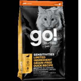 Go Cat Products GO! Grain Free Dry Cat Food LID Duck 8LB