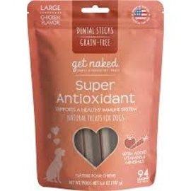Get Naked Get Naked Super Antioxidant Small Dental Sticks Chicken 6.2oz
