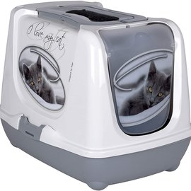 "riga Riga Aristo-cat ""I Love my Cat"" Covered Litter Box"