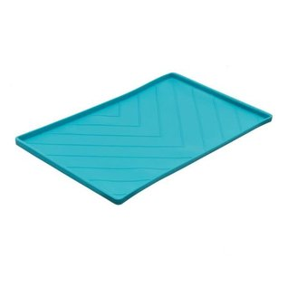 """Messy Mutts Messy Mutts Silicone Food Mat Blue (23.6 x 15.8"""")"""