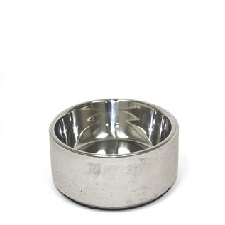 """Be On Breed Be One Breed Concrete Bowl (5"""" Diameter) w/ removable stainless steel interior"""