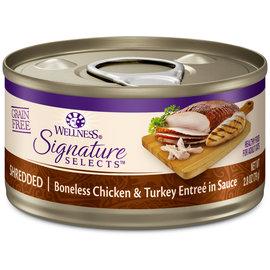 Wellness Wellness Cat Wet Signature Selects - Shredded Chicken & Turkey in Sauce 2.8oz