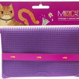 messy cats MESSY CAT Silicone Litter Mat Purple