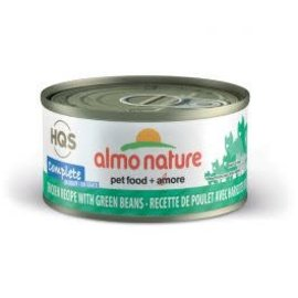 Almo Nature Almo Cat Nature HQS Complete Chicken with Green Bean in Gravy Can 70g