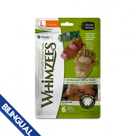Whimzees WHIMZEES™ ALLIGATOR LARGE 12.7 OZ DENTAL CHEW FOR DOGS