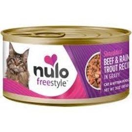 Nulo Nulo Cat Wet - Grain Free Shredded Beef & Rainbow Trout in Gravy 3oz