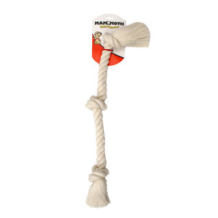 MAMMOTH PET PRODUCTS Mammoth Flossy Chews Rope 3 Knot X-Large White