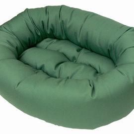 Aviva Aviva Designer Beds - Round Cotton with Removable Cover Medium RED PLAID DESIGN